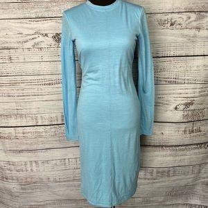 RAMBLERS WAY Rambouillet Wool Blue Fitted Dress S